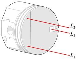 Piston laser beam spots