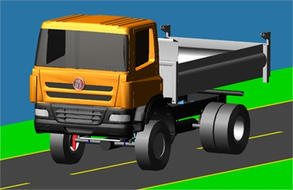 Graphical representation of the dynamic vehicle model