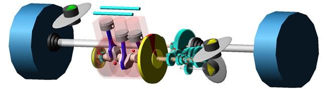 Computational model of a vehicle power train