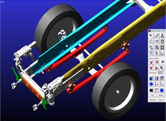 Front suspension model
