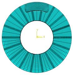 Finite element model of disc brake