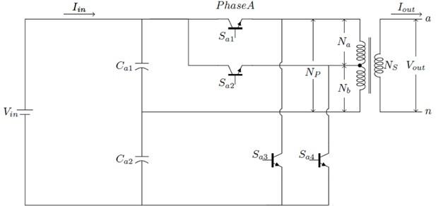 Single-phase five-level enhanced cascaded MLI