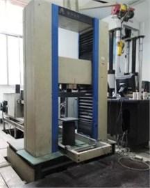 RYL-600 rock shear rheometer test machine: a) normal loading, b) parts of the test machine