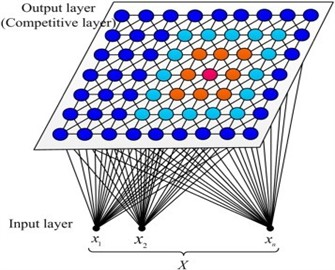 SOM neural network structural