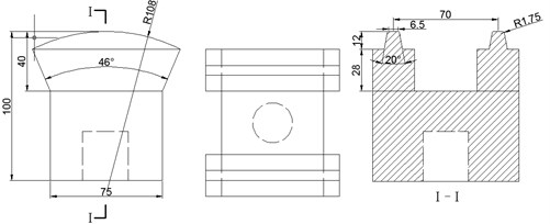 A photograph of two TBM disc cutters and the geometric parameters of cutter