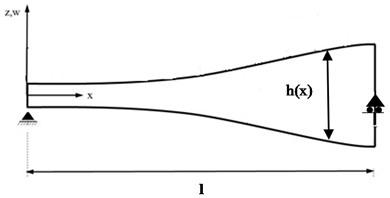 Schematic of beam