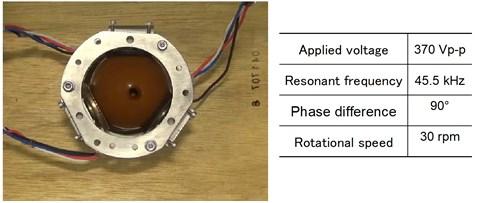 Spherical ultrasonic motor in water