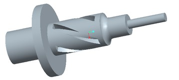 Model and simulation of optimized horn