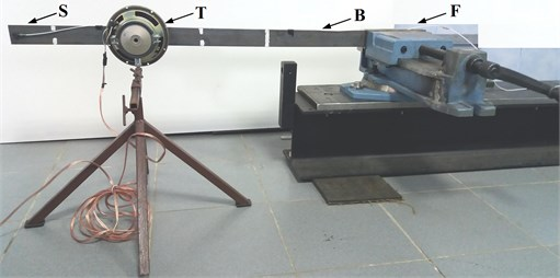 Mechanical set up of the test bench