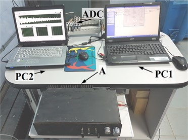 Hardware presentation of the acoustic excitation, acquisition and analysis subsystems