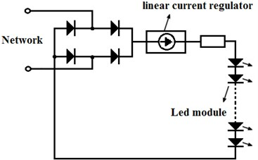 Circuit of the simplest AC LED module