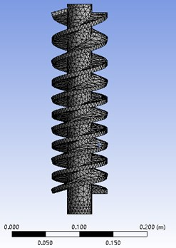 Mesh division of geometry  model for double helical separator