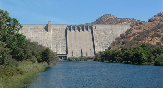 A view of the CGD selected for modeling: the pine flat dam