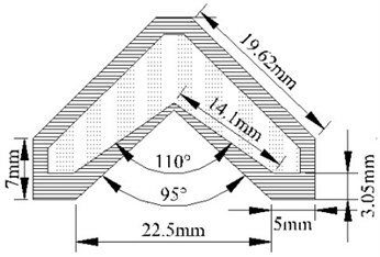 Schematic diagram of the shaped charge section
