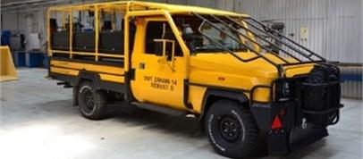 Investigated crew transportation truck