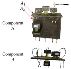 Experimental model of mechanical assembly with linear connection