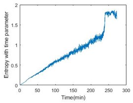 Entropy with time parameter of 6 bearings