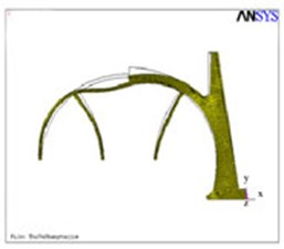 Structural deformation of the primary lining and temporary support of the half section