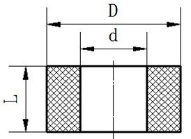 Size parameters and finite element model of rubber vibration isolator