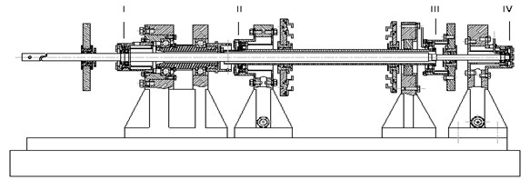 Structure diagram of double rotor tester