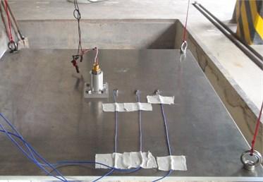 Measurement scene of separation shock