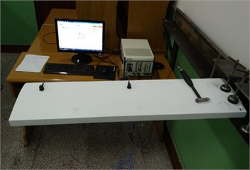 Images of experimental system and sensor arrangement
