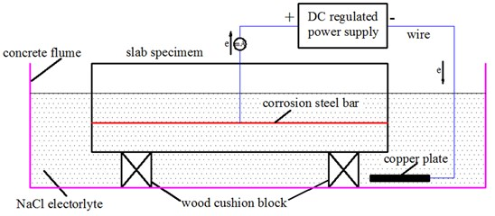 Schematic of the electrical corrosion test