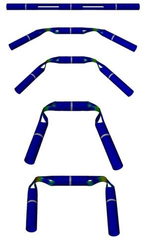 Quasi-static folding process of hinge