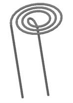 Schematic diagram of wire stator