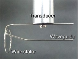 Wire stator of single spiral