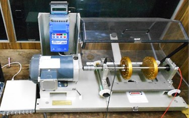 Experimental setup for two plane rotor system