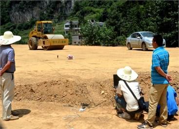 Fine-grained soil field vibration test