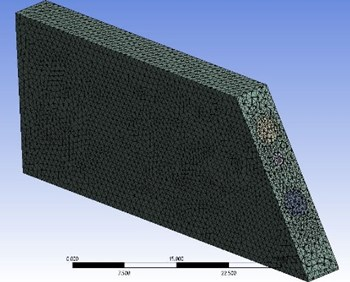 Meshing of silica and  fluid domain in STF model