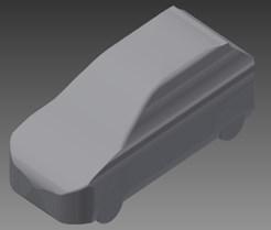 Solid model of hatchback type car