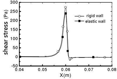 Vessel wall shear stress distribution
