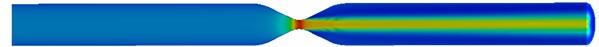 Flow field nephogram of rigid vascular model