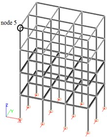 Design model for a reinforced concrete and steel spatial frame