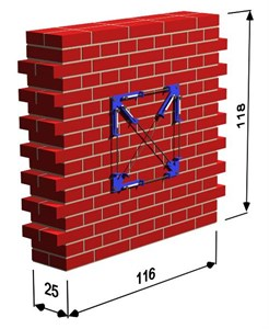 The shape and overall dimensions of: a) masonry wall specimens tested by Galman [15] with  visible the localization of the set of LVDT's transducer, b) typical stress-strain relationship for masonry subjected to cyclic loading of specimens of series MW-c with the construction of the envelope curve