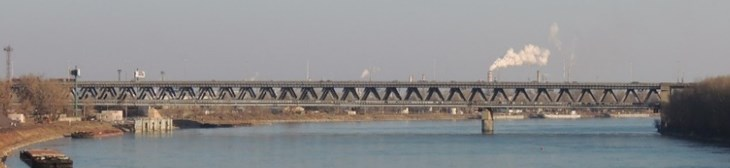 The multi-span truss bridge (Bridge No. 2)