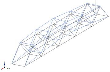 The 2nd identified mode-shape:  a) measurement in 2016 (f= 3.01 Hz), b) FEM model (f= 3.04 Hz)