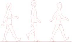 Human activities: a) heel-drop, b) jumping, c) walking, d) running