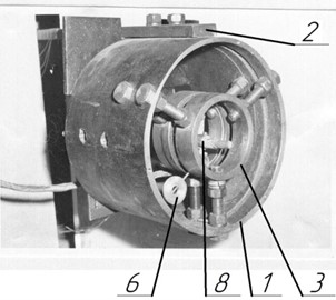 General view of the vibration exciter on the experimental stand