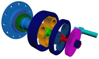 Multi-body dynamic modeling of wind turbine gearbox