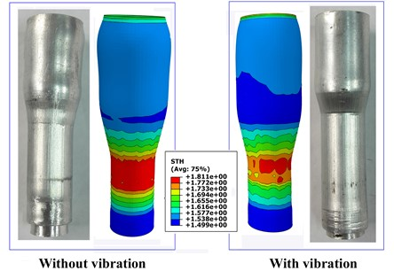 Deformation of the ferric powder filled Al6061 tubes after extrusion