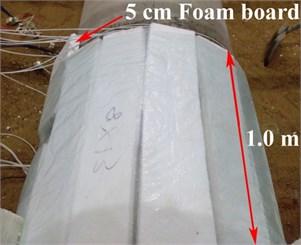 Foam board around the tunnel