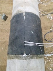 Sponge rubber around the tunnel