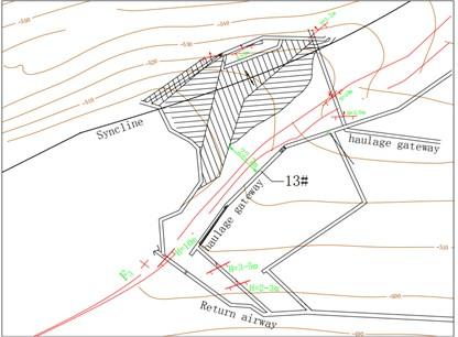 Mining diagram of panel 2347