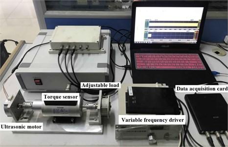 Test-bed for ultrasonic motor