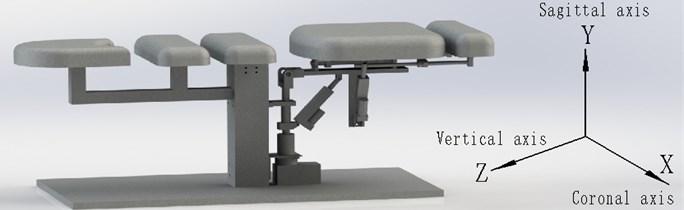 Mechanical structure of waist rehabilitation bed