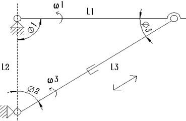 Schematic diagram of mechanism